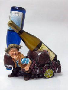 Подставка для вина «Винорикша, рубашка в полоску»