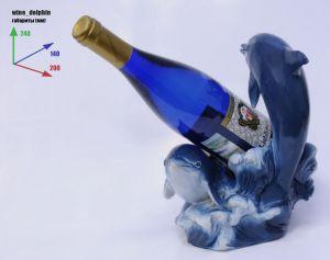 Подставка для вина «Дельфины и бутылка»