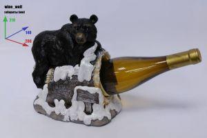 Подставка для вина «Медведь на скале»