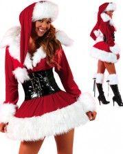 Красное новогодние платье снегурочки