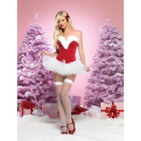 Сексуальное новогодние платье снегурочки