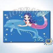 "Картина по номерам ""Дельфин и русалка"""