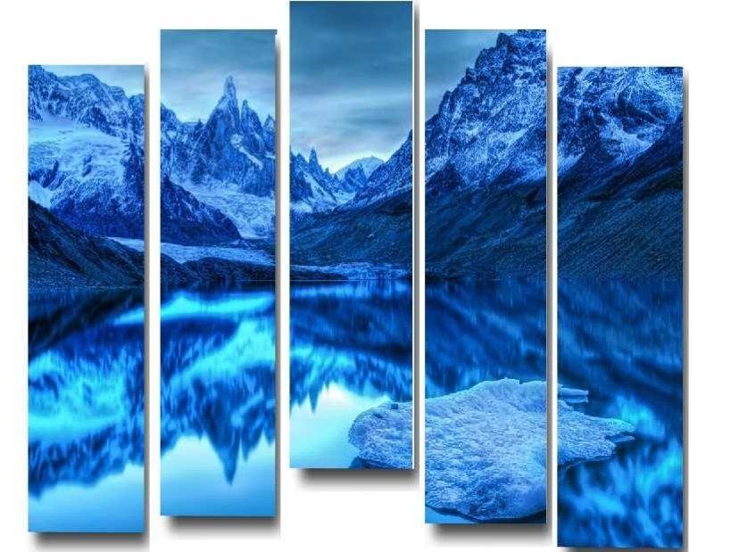 Модульная картина Зимние горы