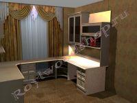 Письменный стол для школьника увеличенной глубины из массива 1200x800x726мм