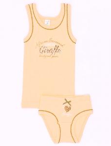 белье для девочки персиковое