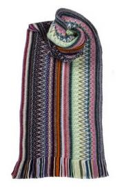 модный вязаный шотландский  шарф Zig Zag Аврора -богиня утренней зари, плотность 7
