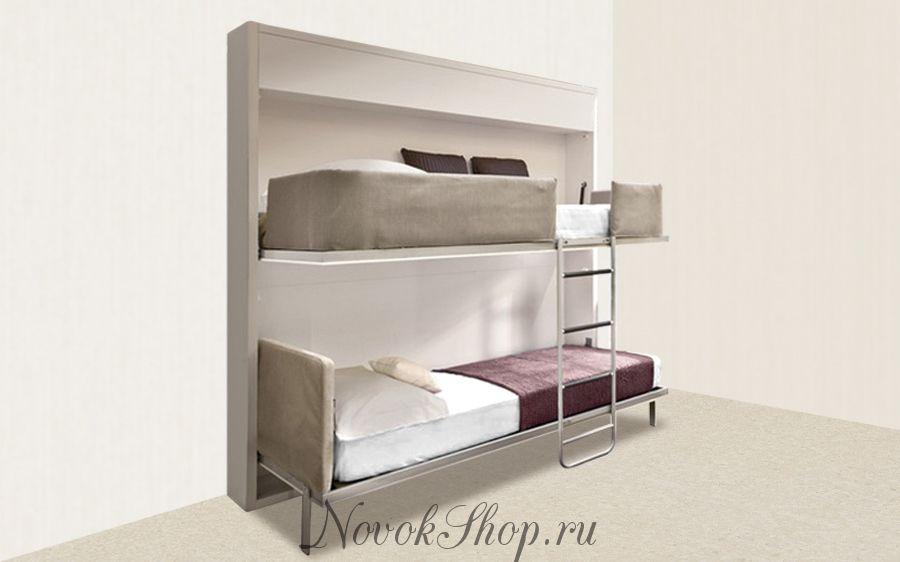 Двухъярусная кровать шкаф трансформер DUOS 90-190*2