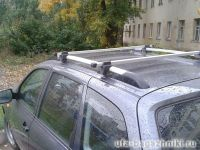 Багажник (поперечины) на рейлинги на Ладу Калину, Атлант, алюминиевые дуги