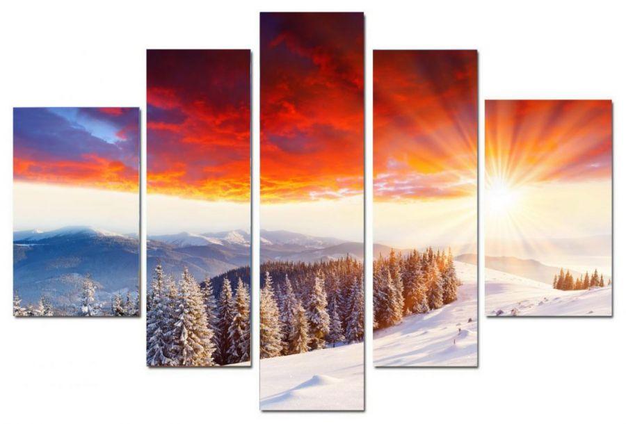 Модульная картина Восход солнца