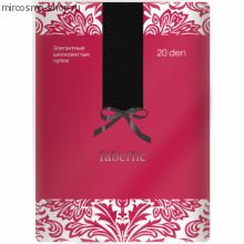 Элегантные шелковистые чулки, цвет черный, 20 den