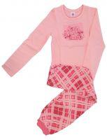 Пижама для девочки персикового цвета