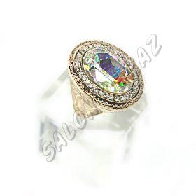 Кольцо-перстень с магическим кристаллом КО-078