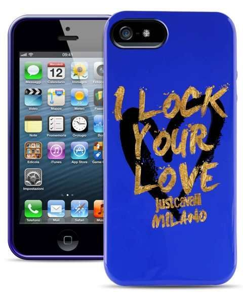 Чехол-накладка для iPhone 5/5S Just Cavalli LOCK u LOVE (blue)