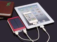 Универсальное зарядное устройство солнечной батареей (20000mah)