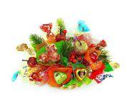 """Букетик из конфет в корзине №226 """"Новогодний"""""""