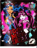 Monster High Тетрадь 48 листов клетка с полями
