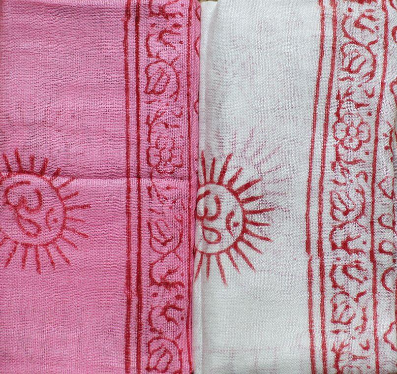 Индийский хлопковый шарф (отправка из Индии)