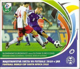 Чемпионат мира по футболу 2010 Южная Африка набор евро монет 2010 Словакия (8 монет +жетон)