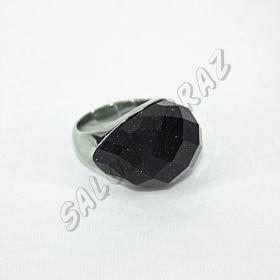 Кольцо с огранённым авантюрином КО-087