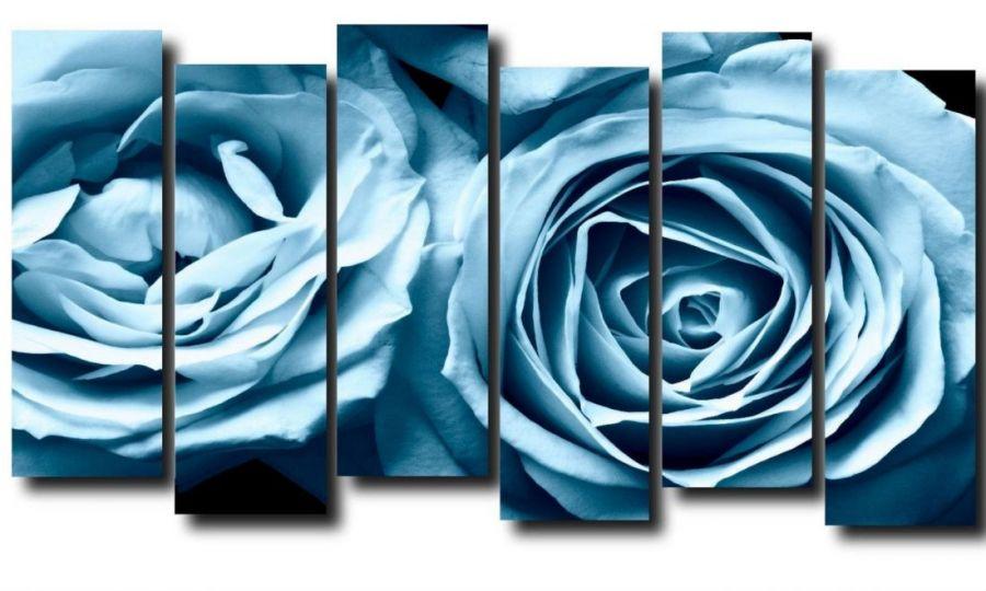 Модульная картина Синие розы