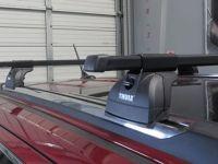Багажник на крышу Jeep Grand Cherokee (5-dr SUV 2011-...), Thule, стальные прямоугольные дуги SquareBar