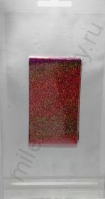 Фольга переводная голографическая F-1m-GOL111 Розовая 4 см * 1 м