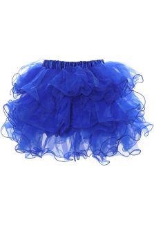 Пышная многослойная юбка синего цвета