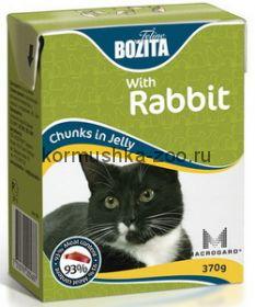 Bozita Tetra Pak для кошек с кроликом в желе