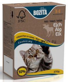 Bozita Tetra Pak для кошек с мясом лося в желе