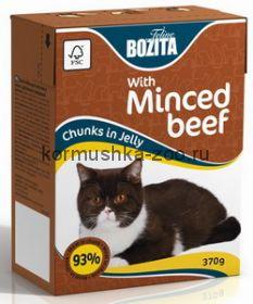 Bozita Tetra Pak для кошек с рубленой говядиной в желе