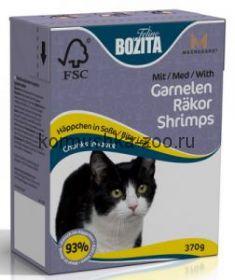 Bozita Tetra Recart для кошек Креветки, кусочки в соусе