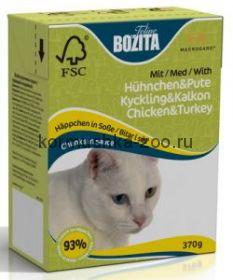 Bozita Tetra Recart для кошек Курица/индейка, кусочки в соусе