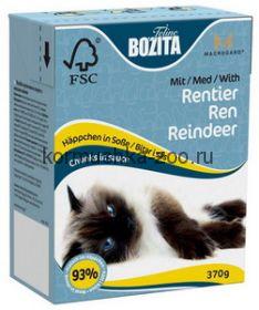 Bozita Tetra Recart для кошек Мясо оленя, кусочки в соусе