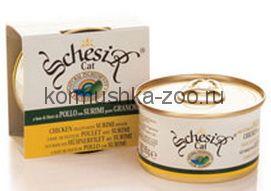 Schesir консервы для кошек Филе цыпленка/крабы