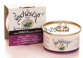 Schesir консервы для кошек Тунец/говядина
