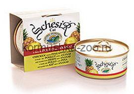 Schesir консервы для кошек Цыпленок с ананасом