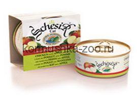 Schesir консервы для кошек Цыпленок с яблоком
