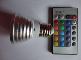 Лампочка светодиодная 16 цветов
