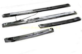 Накладки на пороги с подсветкой (Тип 4) для Toyota Land Cruiser Prado 150 2013 -