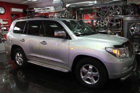 Корпуса зеркал с повторителем поворота тип MB (Хром) для Toyota Land Cruiser 200