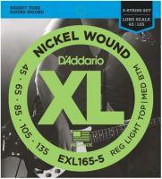 D'ADDARIO EXL165-5 (045-135) Струны для бас-гитары (5 стр.)