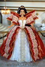 Коллекционная кукла Праздничная Барби (с зелеными глазами) - 1997 Happy Holidays Barbie Doll
