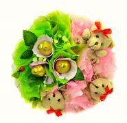 """Букет из игрушек и конфет №357-3К """"Сладко"""""""