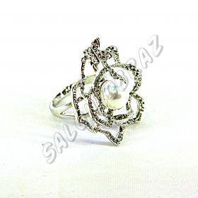 """Кольцо """"Цветок с жемчугом"""" КО-103"""