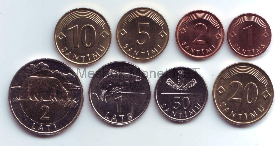 Набор разменных монет Латвии образца 1992 г.