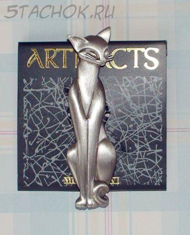 "Брошь ""Сиамская кошка"" под олово"