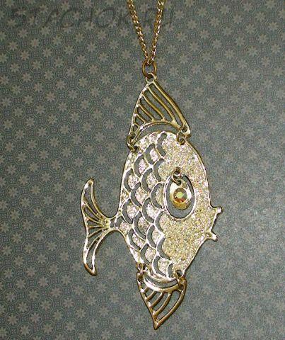 """Колье """"Золотая рыбка"""" под золото"""