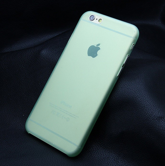 Ультра тонкий чехол 0.3мм для iphone 6/6s зеленый