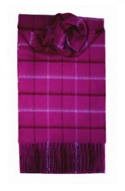 """кашемировый шарф (100% драгоценный кашемир) ,Знаменитая """"Оконная клетка"""", Лиловый WINDOWPANE LILAC"""