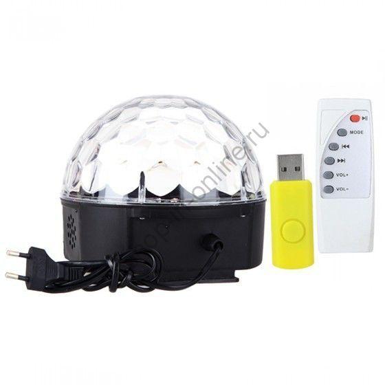 MP3 магический хрустальный шар LED Музыка